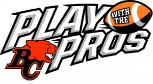 BC Lions Play with the Pros logo