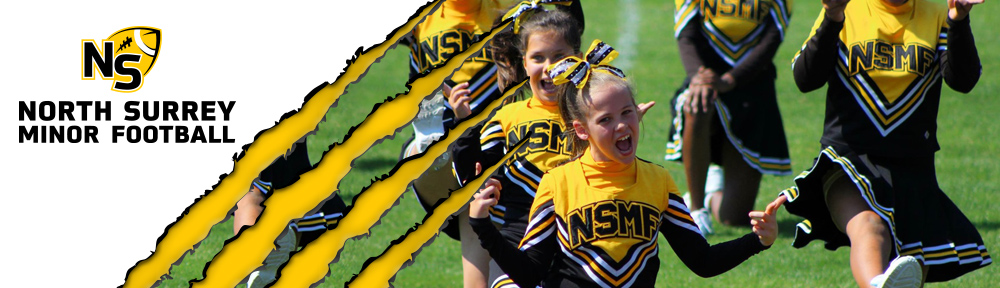 banner Header cheer on track yelling