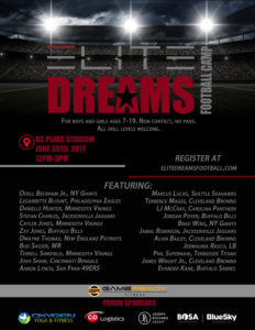 elite dreams 2017 camp poster