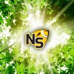 Logo through Green Leaves