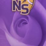 Logo on Purple Rose