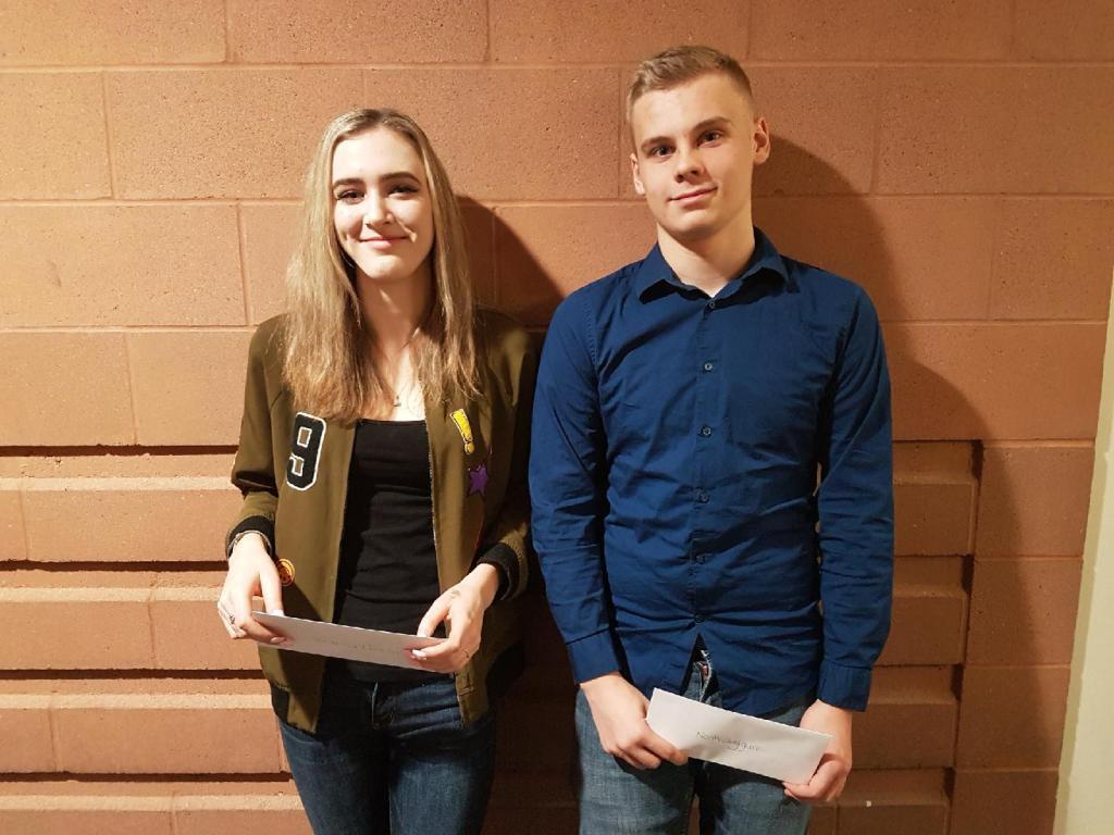 Victoria Deacon Noah Jaggard 2018 VMFL Scholarship Winners