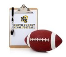 Clipboard with NS logo and a whistle and a football
