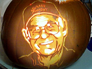 Pumpkin carved with John Hocking